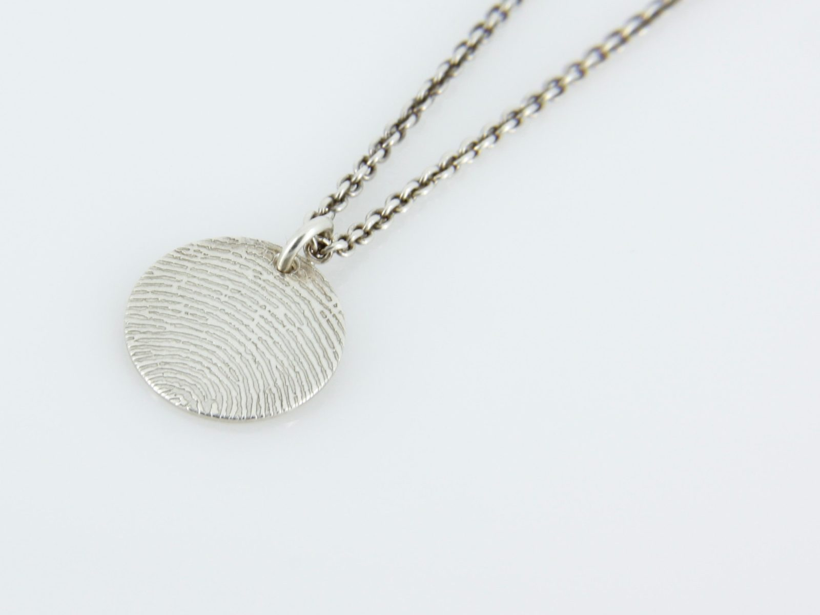 unique solid capture product fingerprint img in silver prints necklace